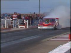 Motorsports, drag racing, promod burnout, #2 Ford Thunderbird Stock Footage