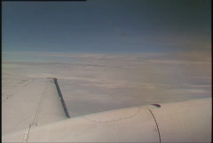Aerial wing shot Beech King Air Stock Footage