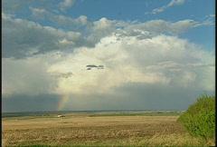 Weather, Prairie rainbow, #2 Stock Footage