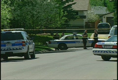 Crime and justice, Calgary police crime scene Stock Footage