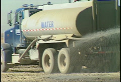 Trucking, water truck Stock Footage