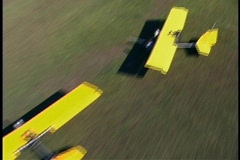 Bird's Eye View of Hang Glider Landing in a Field Stock Footage