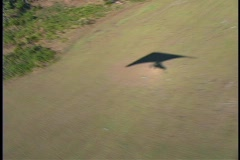 Aerial of Hang Glider Landing Stock Footage