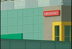 emergency entrance hospital colouful - stock footage