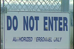 Do not enter sign Stock Footage