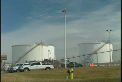 Oil & gas, fuel tanks Stock Footage