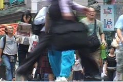 HONG KONG-PEDESTRIANS 1 - stock footage