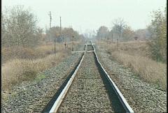 railroad, railway track zoom back - stock footage