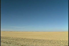 Agriculture, open harvested prairie Stock Footage