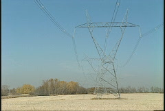 Power pylons, heat ripples, #1 Stock Footage