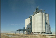 Agriculture, modern wheat elevator, #3 Stock Footage