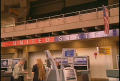 US Customs airport Stock Footage