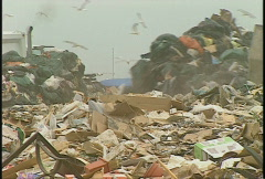 The environment, garbage dump, #15 and tractor pushing Stock Footage
