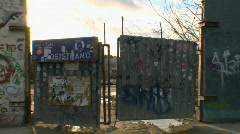 Berlin_the_wall_old_door Stock Footage