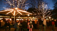 Germany Munich English garden Christmas fair Advent Stock Footage