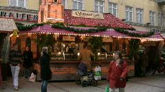 Germany Munich Fruit punch Christmas market Christkindlmarkt, Stock Footage