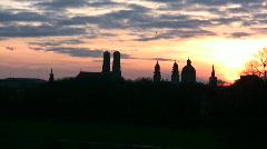 Skyline of Munich Germany Stock Footage