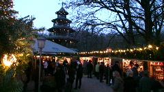 Germany Munich English garden Christmas fair Advent Stock Footage