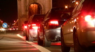 Germany Munich traffic jam in rush hour Stock Footage