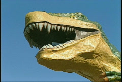 Dinosaur detail Stock Footage