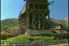 ride aboard 1920s coal mine train,  #1 - stock footage