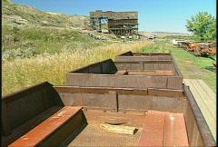 Ride aboard 1920s coal mine train,  #2 Stock Footage