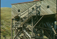 Coal tipple detail, #4 1920s, abandoned Stock Footage