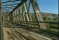 Combi bridge - rail and road 1920s, #1 Stock Footage