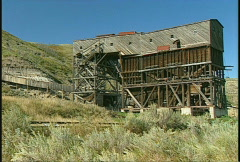 Coal tipple, #2 1920s, abandoned Stock Footage