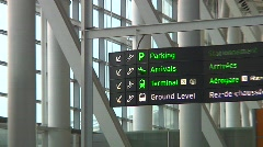 Jm564-Airport Signs Stock Footage