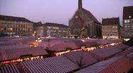 Germany Nuremberg Advent Christmas fair Stock Footage