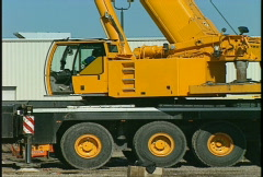 Construction, Liebhrer 5 axle crane 3-shot Stock Footage