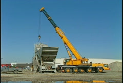 Construction, massive lift capability, Liebhrer 5 axle crane  Stock Footage