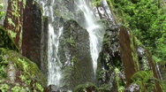 Stock Video Footage of The Nideck waterfall