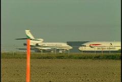 Aircraft, Dassault falcon 900EX British Airways Airbus taxi on runways Stock Footage