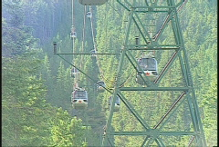 Gondola chairlift, long lens Stock Footage