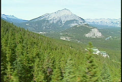 Riding the gondola in Banff Stock Footage