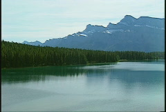 Banff, Two Jack lake Stock Footage