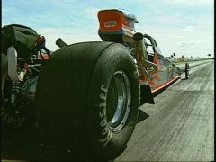 Motorsports, drag racing, supercomp dragster launch Stock Footage