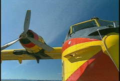 Aircraft, Canadair CL215 waterbomber, nose and engine  Stock Footage