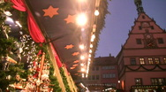 Stock Video Footage of Germany Rothenburg ob der Tauber Christmas fair