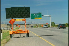 Traffic arrows detour sign, #4 Stock Footage