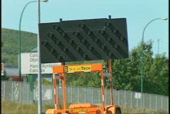 Traffic arrows detour sign, #3 Stock Footage
