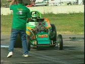 Motorsports, drag race, top fuel altered burnout Stock Footage