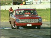 Stock Video Footage of motorsports, drag race, Chev nova promod burnout