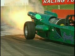motorsports, drag racing, jet car start, afterburner Medium - stock footage