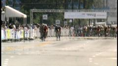 2008 Chicago Criterium Bike Race 001 Stock Footage