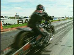 Motorsports, drag racing, dragbike launch Stock Footage