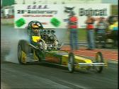 Stock Video Footage of motorsports, drag racing, top fuel rail burnout