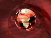 Red Rotating Globe Stock Footage